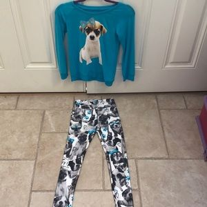 Cute set with dog t shirt and leggings